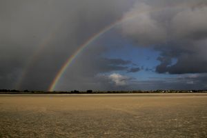 arc en ciel mont saint michel