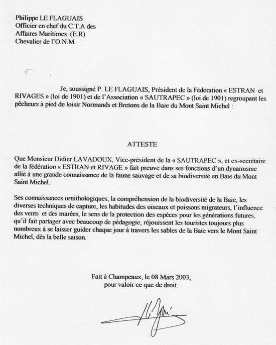 président de fédération de la baie du mont saint michel