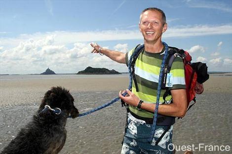 traversées de la baie du mont saint michel didier Lavadoux guide de la baie et sa guide assistante raffia
